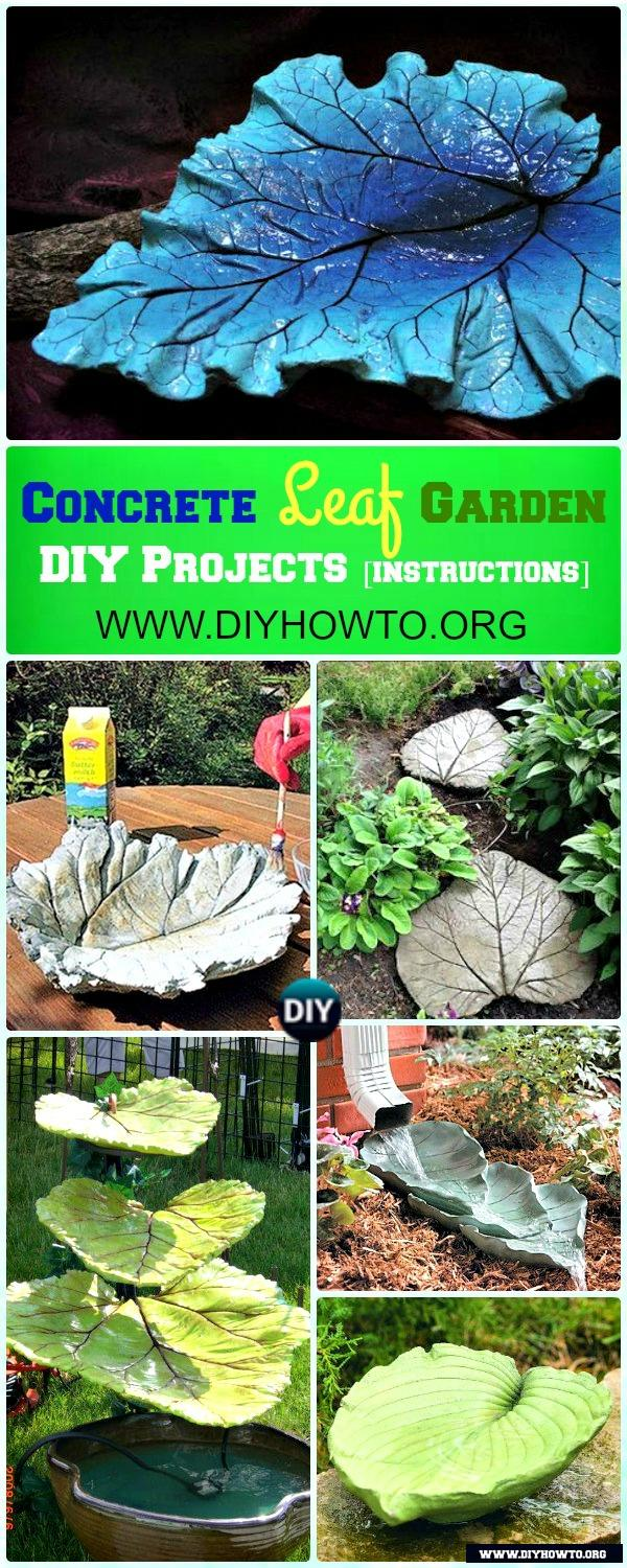 Easy and Fun Ideas to Create These Big Concrete Leaf Garden Projects