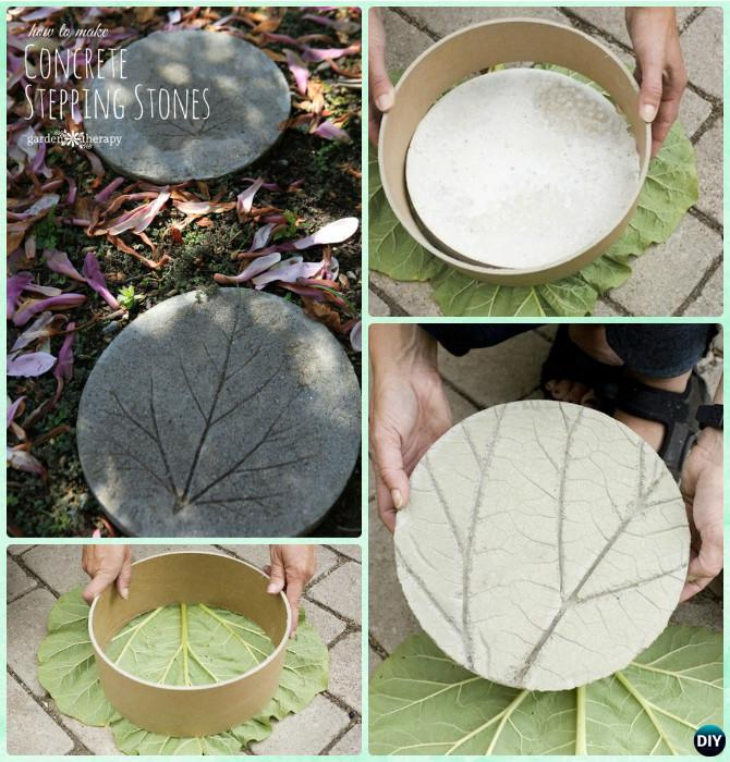 Diy Big Concrete Leaf Garden Projects Instructions