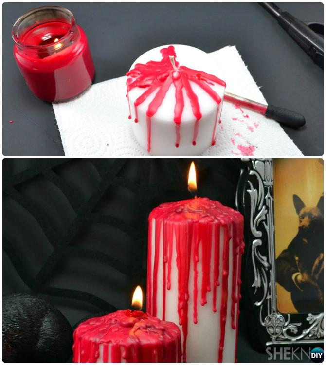 DIY Halloween Blood Candle Craft Projects with Instruction