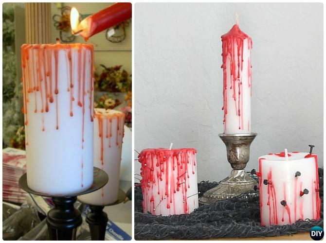DIY Halloween Bleeding Candle Craft Projects with Instruction
