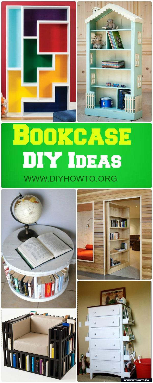 Build Your Own Bookcase And Bookshelf DIY Free Plans: Bookcase Door,  Dollhouse Bookshelf And