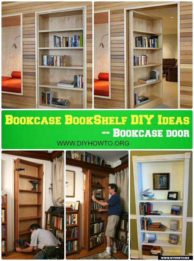 DIY Hidden Bookcase Door Instructions Free Plans