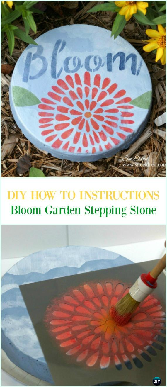 DIY Bloom Garden Stepping Stone Instruction-DIY Cake Pan Stepping Stones Garden Path Projects