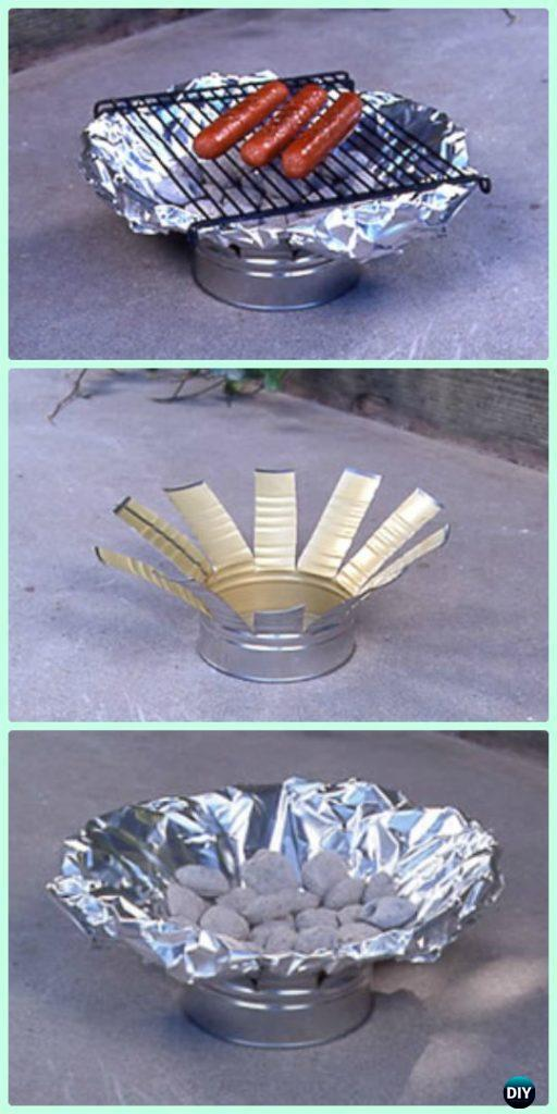 DIY Tin Can Grill Instructions - DIY Camp Grill Projects
