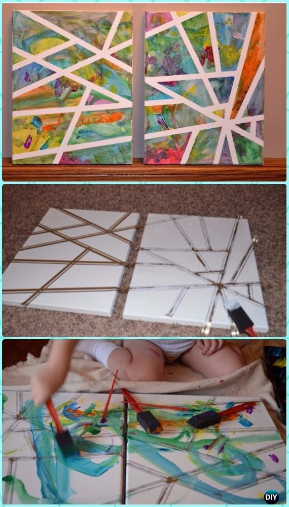 DIY Toddler Scribble Art Canvas Instruction - DIY Canvas Wall Art Ideas Tutorials