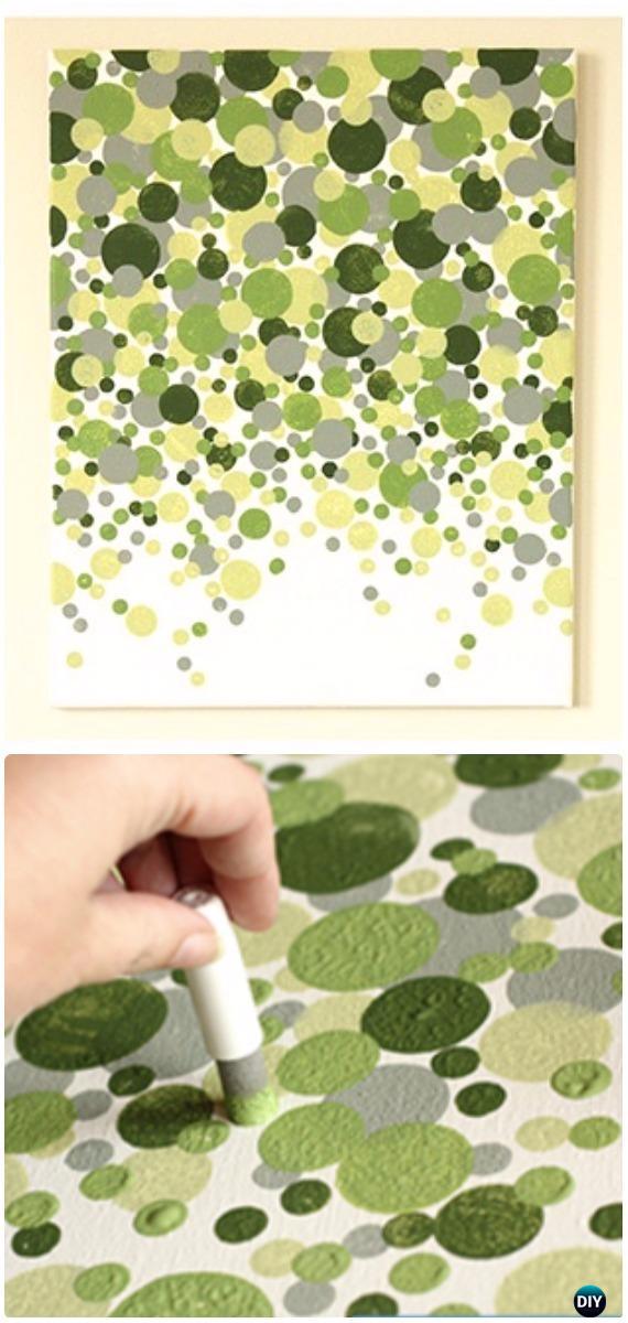 DIY Pouncers Dotting Canvas Instruction - DIY Canvas Wall Art Ideas Tutorials
