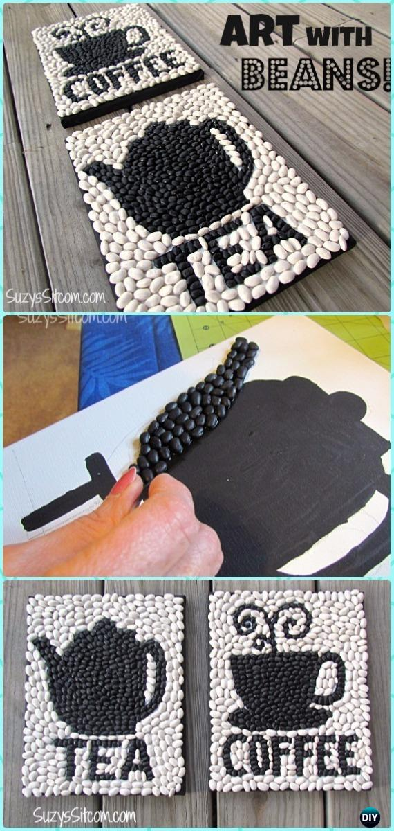 DIY Fun Beans Canvas Wall Art Instruction - DIY Canvas Wall Art Ideas Tutorials