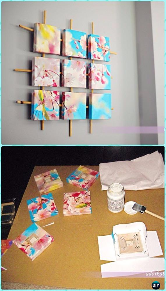 DIY Sectioned Canvas Wall Art Instruction - DIY Canvas Wall Art Ideas Tutorials