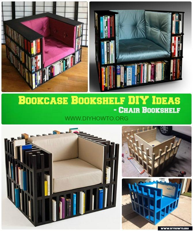 DIY LUX Chair Bookshelf /Bookcase Chair Instruction-Free Plan