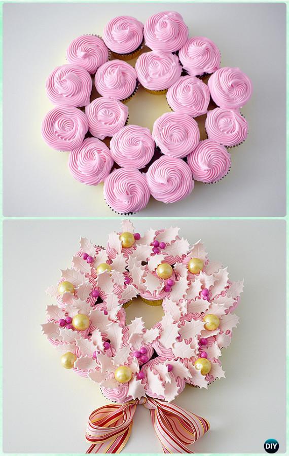 Christmas Wreath Cupcake Cake Recipe Instruction- DIY Christmas Cake Design Ideas [Recipes]