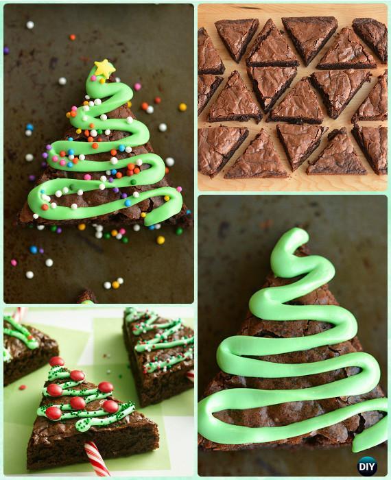 Christmas Tree Brownie Cake Recipe Instruction Diy Christmas Cake