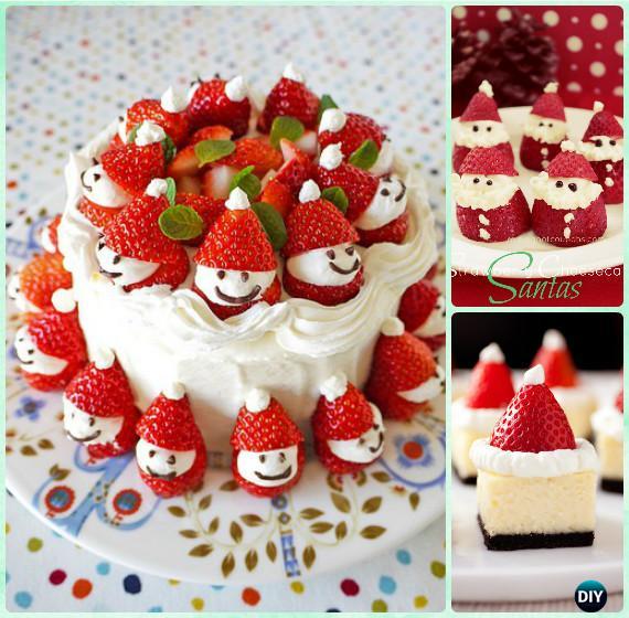 Strawberry Santa Cake Instruction Diy Christmas Cake Design Ideas