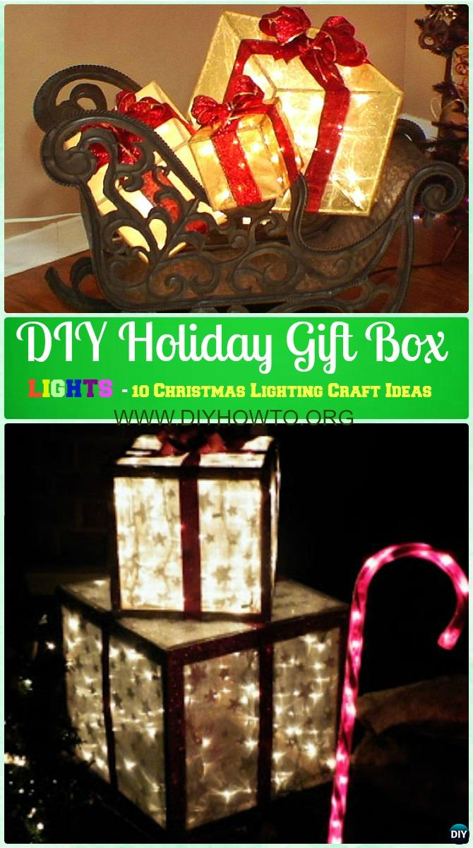 DIY Holiday Gift Box Lights Instruction -DIY Christmas Lights Ideas Crafts