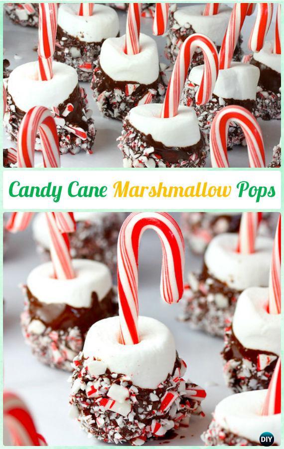 DIY Candy Cane Marshmallow Pops Instructions-DIY Christmas Marshmallow Pop Ideas Recipes