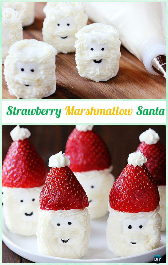 DIY StrawberryMarshmallowSanta Instructions-DIY Christmas Marshmallow Pop Ideas Recipes