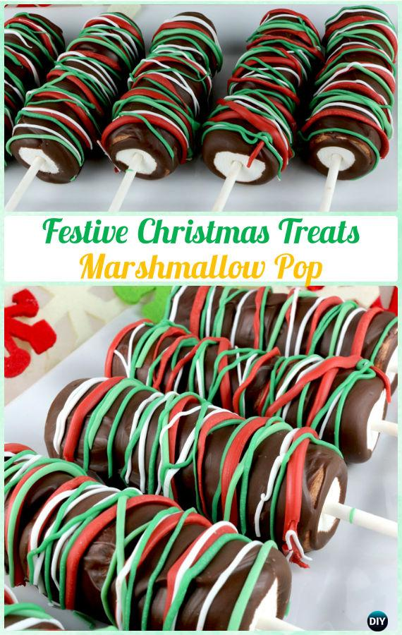 DIY Festive Christmas Marshmallow Pop Instructions-DIY Christmas Marshmallow Pop Ideas Recipes