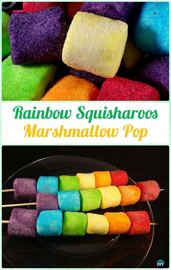 DIY Rainbow Squisharoos MarshmallowPop Instructions-DIY Christmas Marshmallow Pop Ideas Recipes