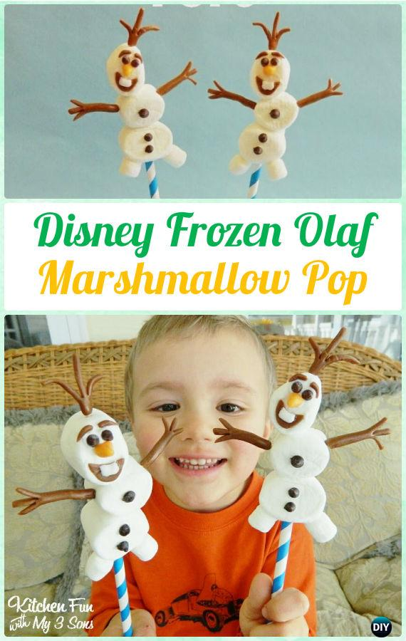 DIY Disney Frozen Olaf Marshmallow Pop Instructions-DIY Christmas Marshmallow Pop Ideas Recipes