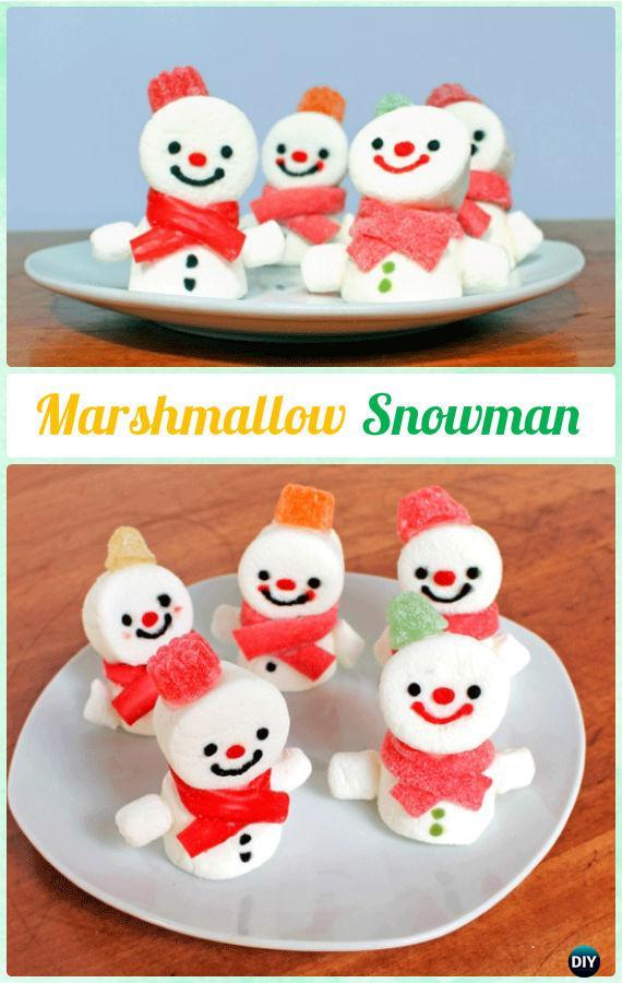 DIYMarshmallowSnowman Instructions-DIY Christmas Marshmallow Pop Ideas Recipes