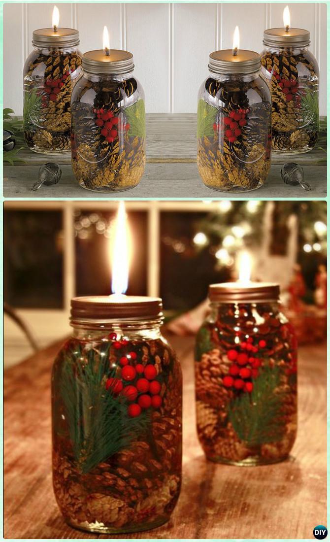 diy christmas mason jar lighting craft ideas picture instructions. Black Bedroom Furniture Sets. Home Design Ideas