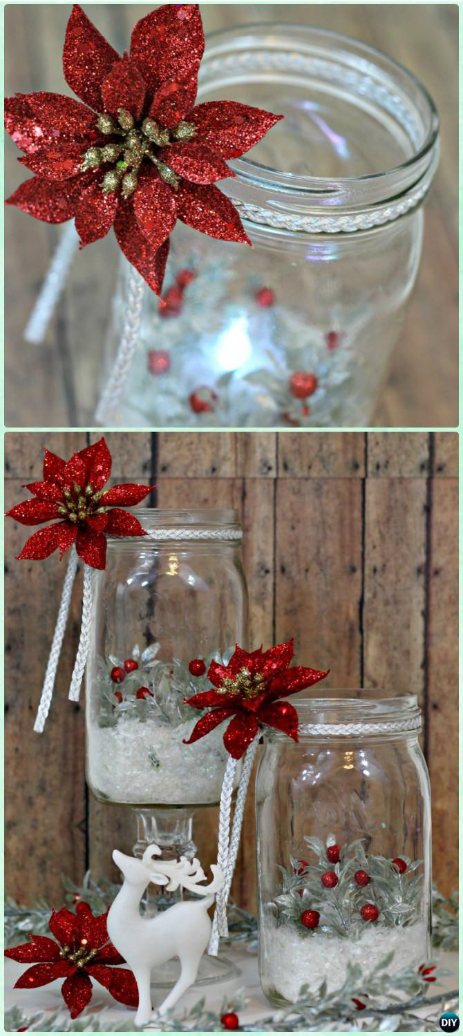 DIY Christmas Mason Jar Lighting Craft Ideas [Picture