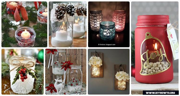 diy christmas mason jar lighting craft ideas picture instructions