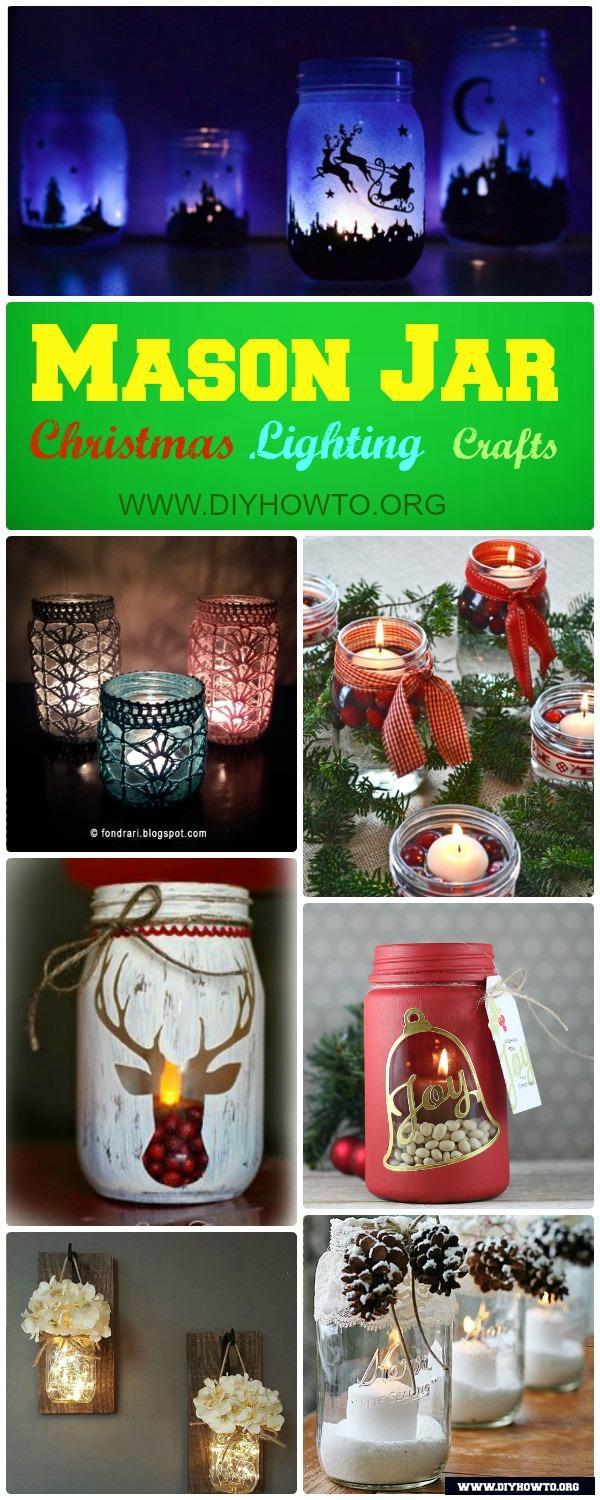 Diy christmas mason jar lighting craft ideas picture instructions different ways to make mason jar lights for christmas mantel dinning table and wall for arubaitofo Gallery
