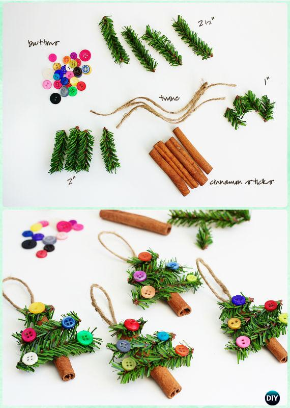 DIY Cinnamon Stick Tree Ornaments Instruction-DIY Christmas Ornament Craft Ideas For Kids