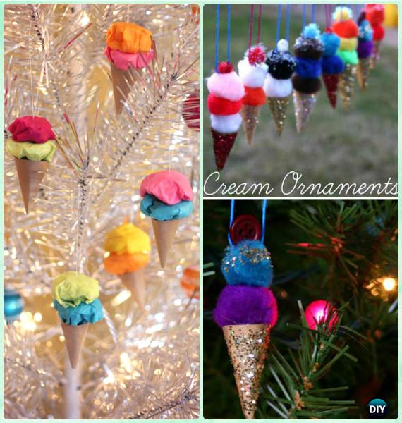 DIY Ice Cream Ornaments Instruction-DIY Christmas Ornament Craft Ideas For Kids
