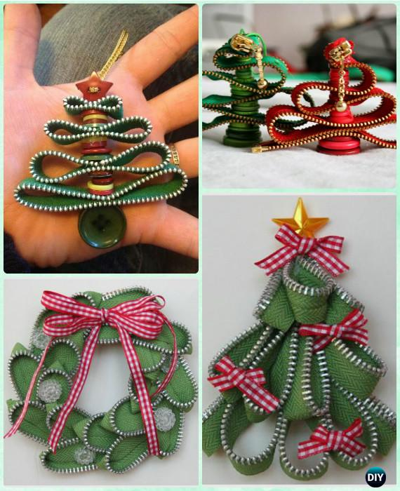 DIY Holiday Zipper Ornaments Instruction-DIY Christmas Ornament Craft Ideas For Kids