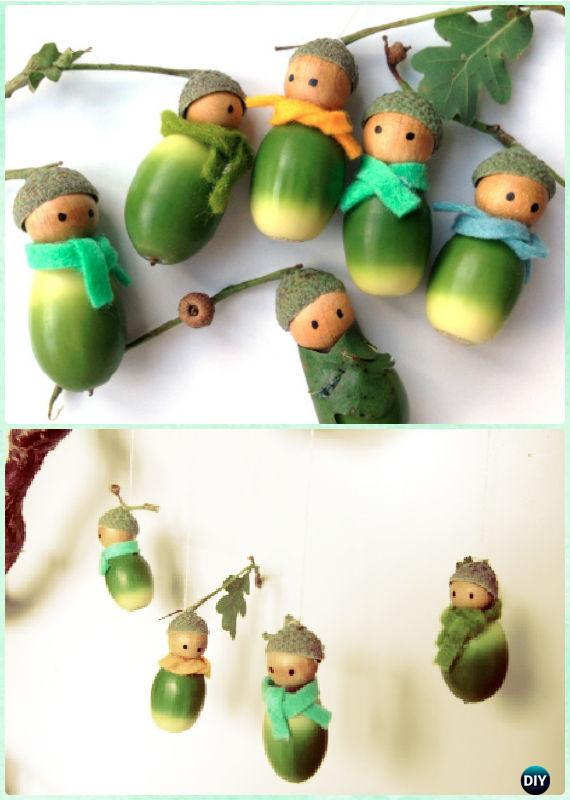 Diy Acorn Doll Ornaments Instruction Diy Christmas Ornament Craft