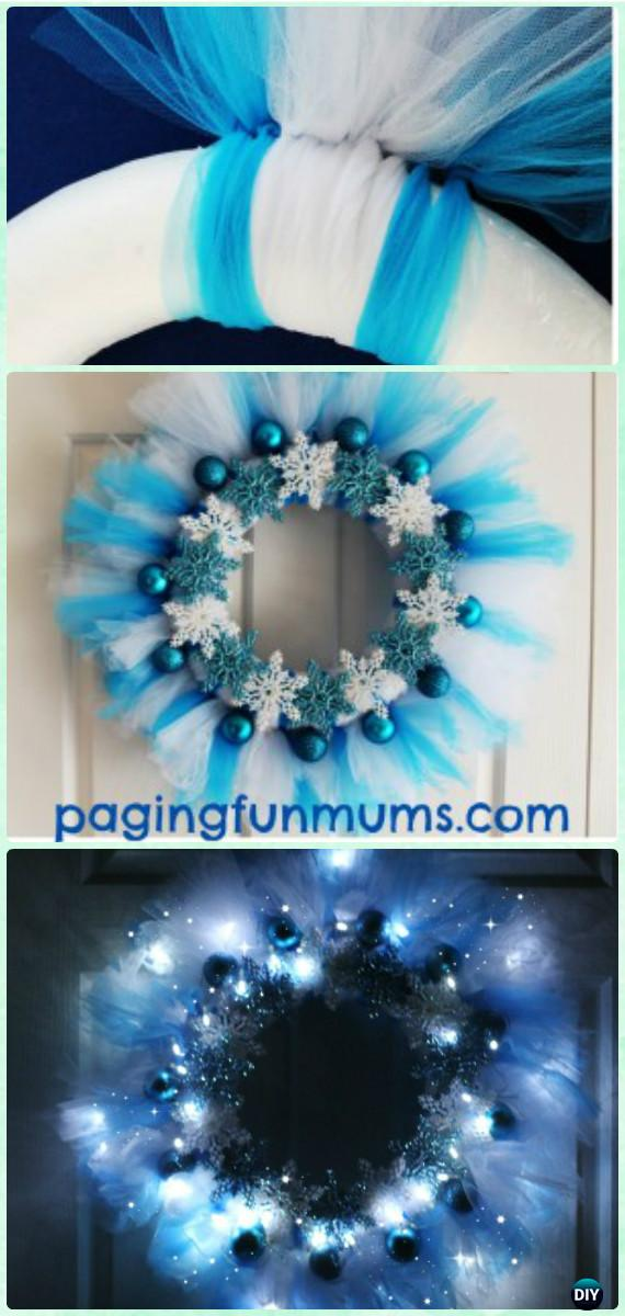 DIY Disney Frozen Wreath Instructions- Christmas Wreath Craft Ideas Holiday Decoration