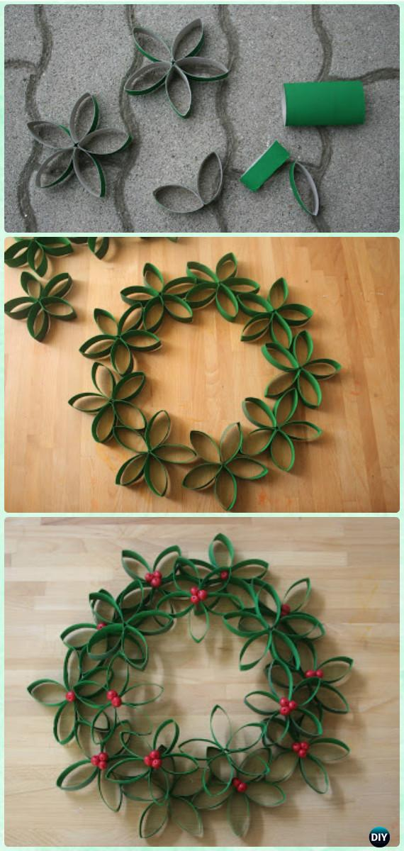 Paper Christmas Wreath Designs.Diy Paper Roll Christmas Wreath Instructions Christmas