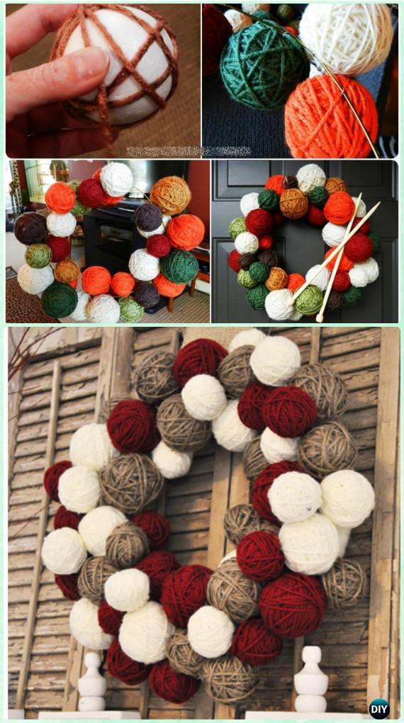 Diy Christmas Wreath Craft Ideas Holiday Decoration