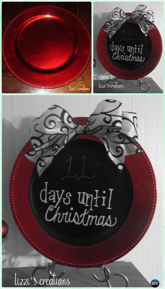 DIY Chalkboard Painting Christmas Count Down Plate Display Instructions - DIY Craft Projects You Can Make and Sell