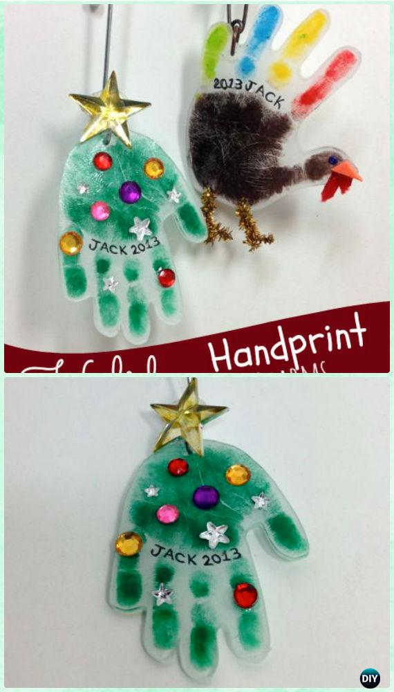 DIY Holiday Handprint Charms Instructions - DIY Craft Projects You Can Make and Sell