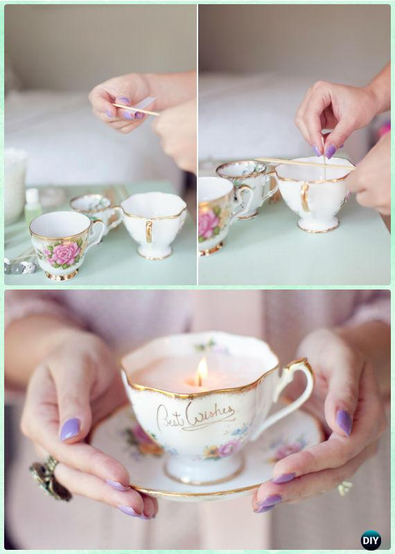 Diy Vintage Teacup Candles Instructions Diy Craft Projects You Can Make And Sell