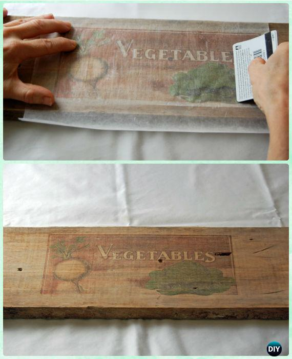DIY Wax Paper Transfer Picture On Wood Instructions - DIY Craft Projects You Can Make and Sell