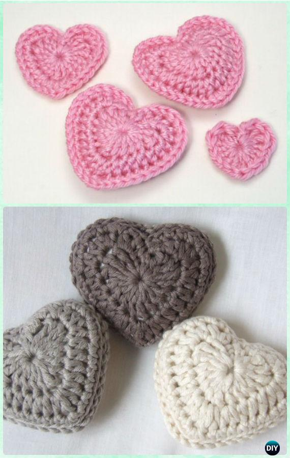 Crochet 3D Love Heart Free Pattern- Crochet Heart Free Patterns