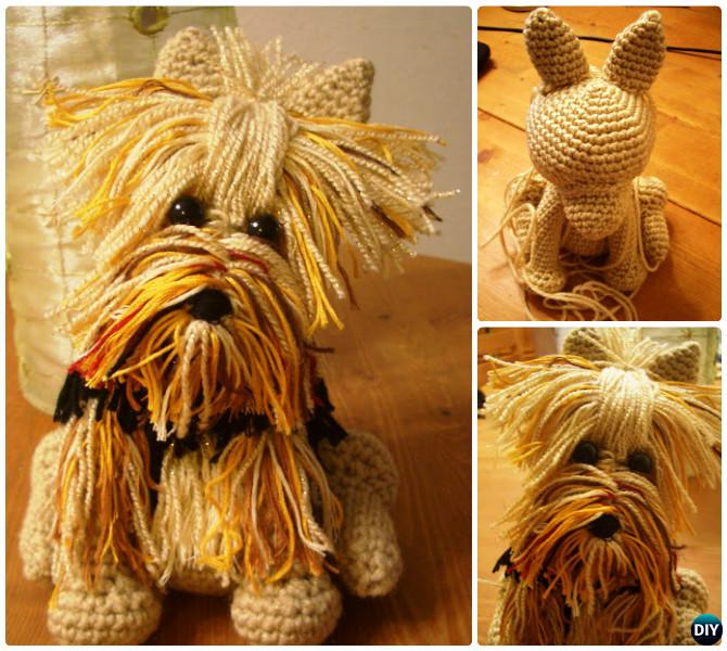 DIY Amigurumi Yorkie Dog Toy Free Pattern-- Crochet Amigurumi Puppy Dog Stuffed Toy Patterns