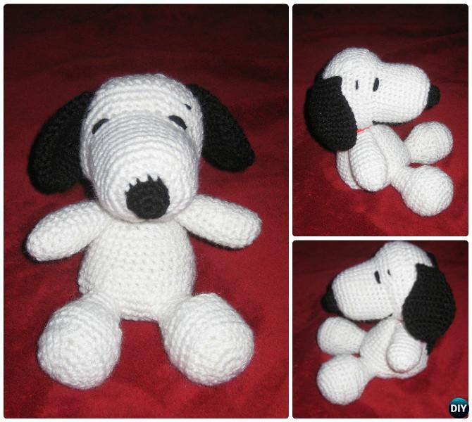 DIY Crochet Amigurumi Snoopy Puppy Dog Stuffed Toy Free Pattern