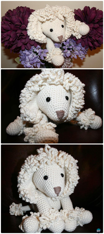 DIY Crochet Poodle Dog Toy Free Pattern-- Amigurumi Puppy Dog Stuffed Toy Patterns