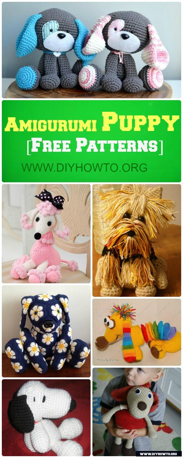 DIY Crochet Amigurumi Puppy Dog Stuffed Toy Free Patterns: Crochet Dog-Themed Animal Toys
