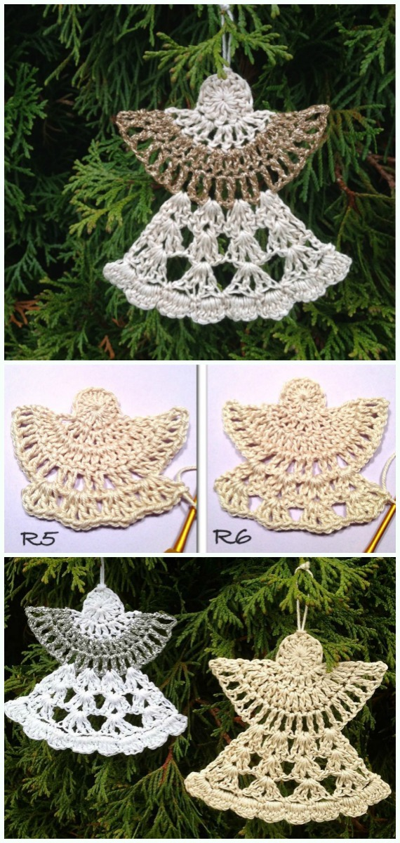 Guardian Angel Crochet Free Pattern -DIY #Crochet; #Christmas; #Ornament; Free Patterns