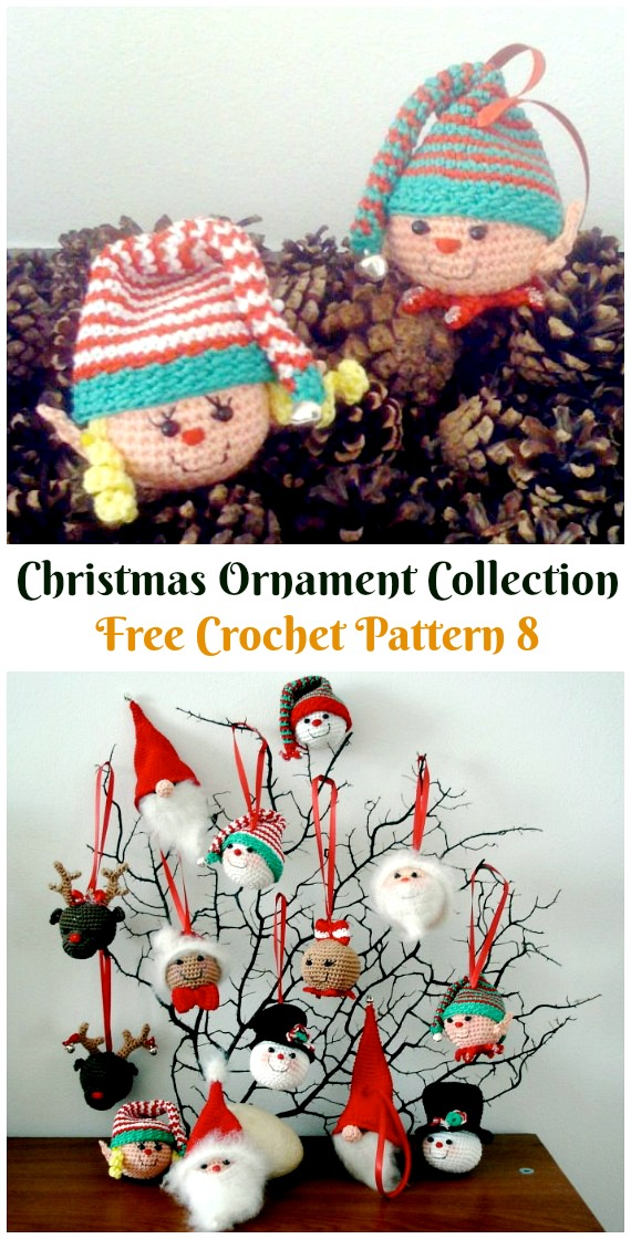 Christmas Ornament Collection Crochet Free Pattern - DIY #Crochet; #Christmas; #Ornament; Free Patterns