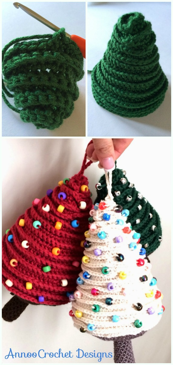 Amigurumi Christmas Tree Crochet Free Pattern - DIY #Crochet; #Christmas; #Ornament; Free Patterns