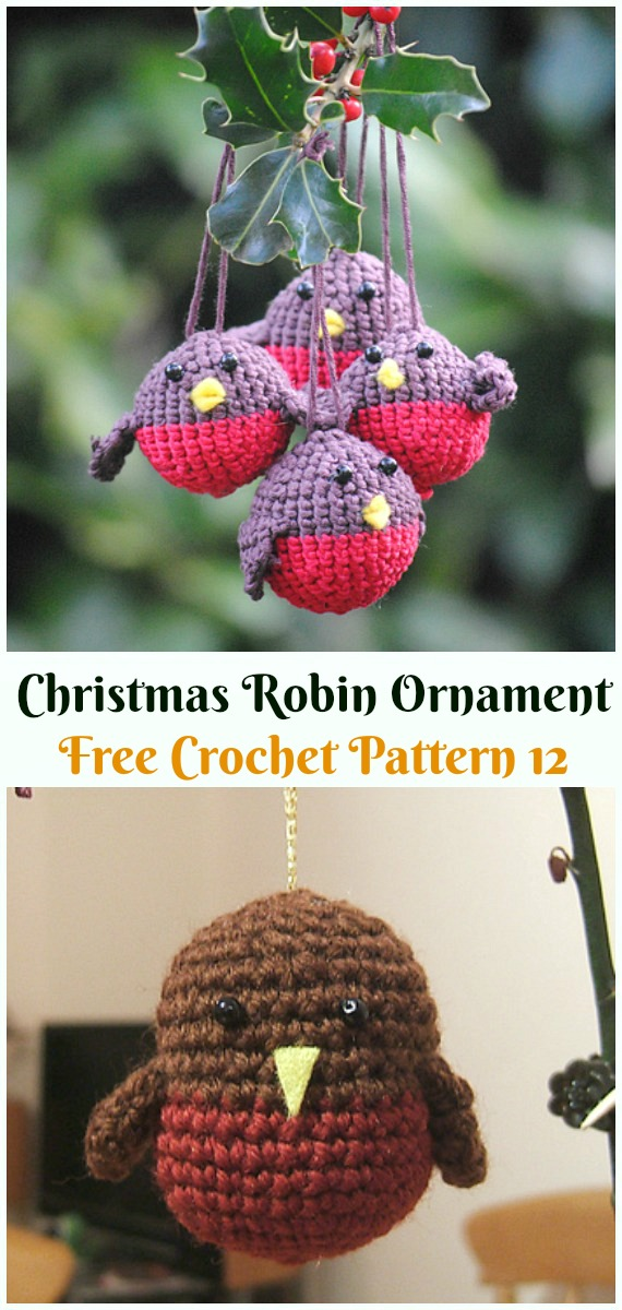 Amigurumi Little Christmas Mouse Crochet Free Pattern - DIY #Crochet; #Christmas; #Ornament; Free Patterns