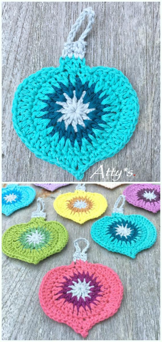 Vintage Ornament Crochet Free Pattern -DIY #Crochet; #Christmas; #Ornament; Free Patterns