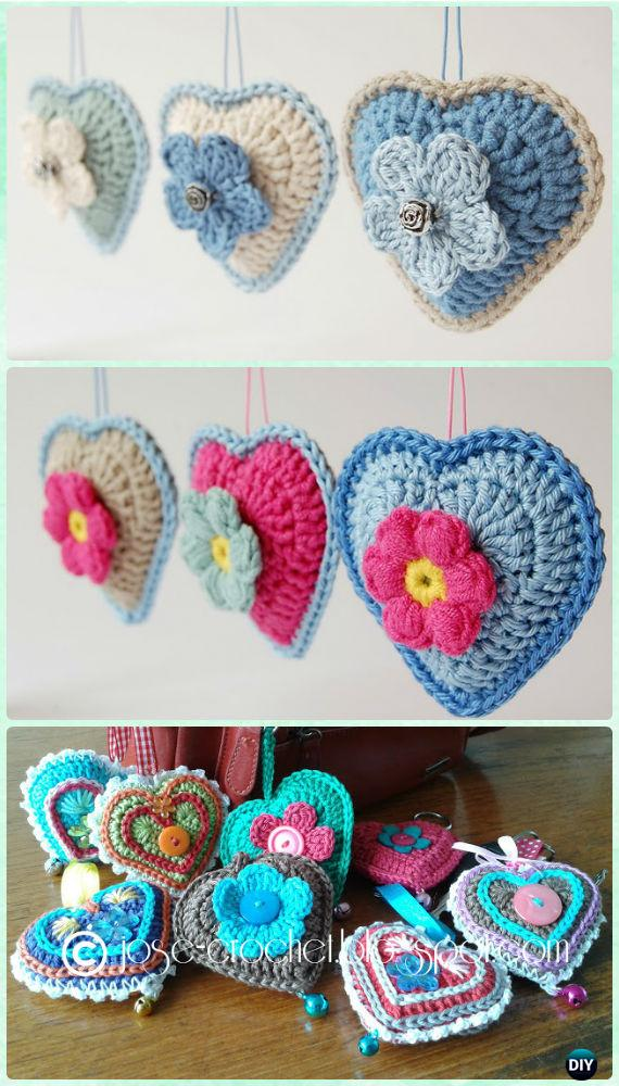Amigurumi Crochet 3d Heart Free Patterns Perfect Valentine Gift Ideas