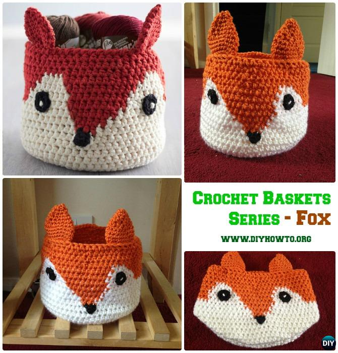 DIY Crochet Fox Storage Basket Free Pattern
